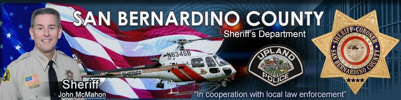 San Bernardino CA Sheriff's Department